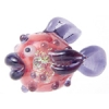 Lamp Bead Puffy Fish 1Pc 28x16mm Midnight Candy